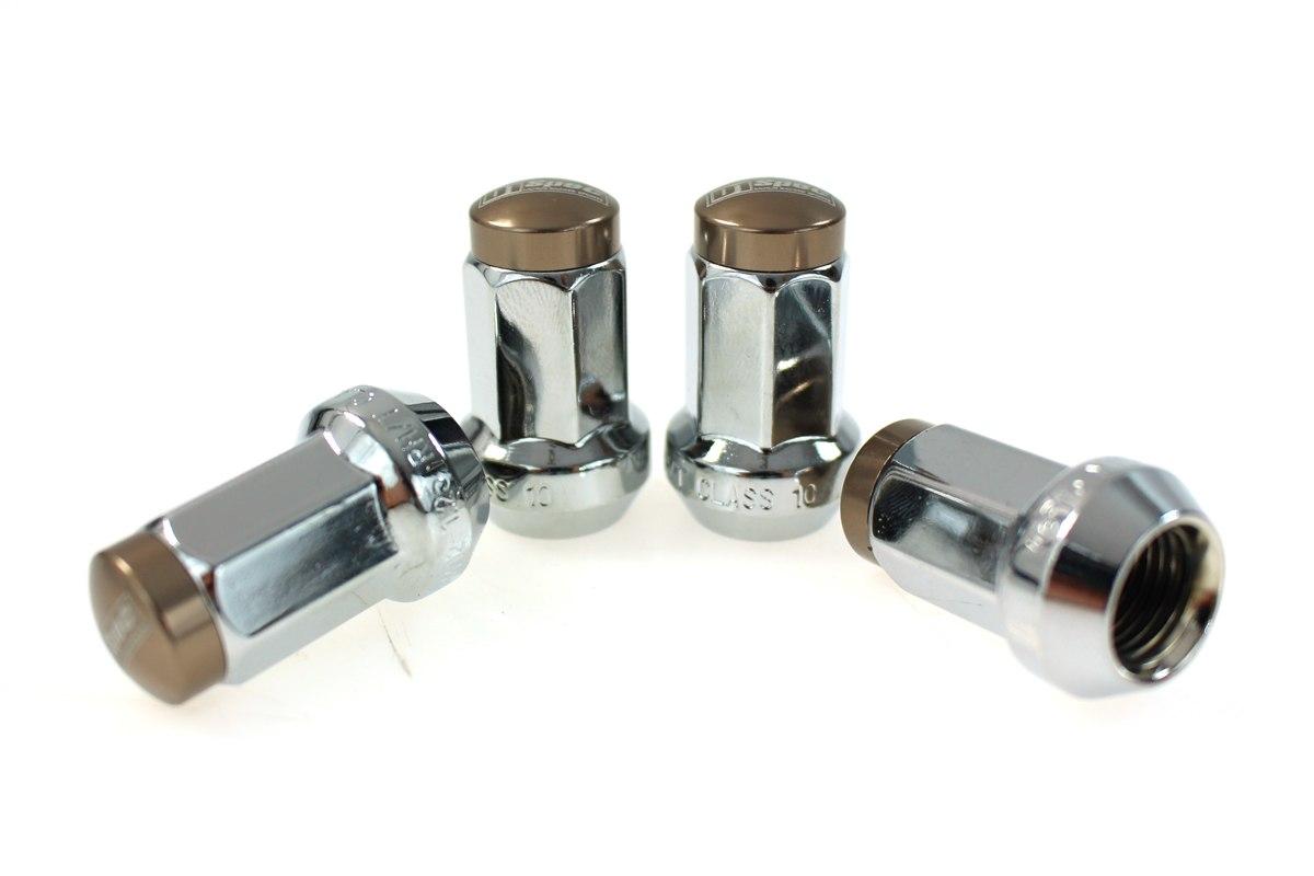 Kute nakrętki D1Spec Stal 12x1.5 Silver/Titanium - GRUBYGARAGE - Sklep Tuningowy